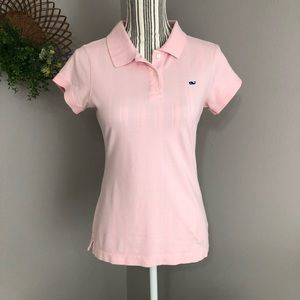 Vineyard Vines Susie Fit pink Small polo EUC
